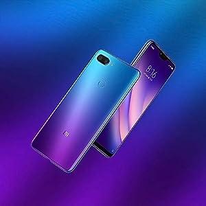 """Xiaomi Mi 8 Lite Smartphones Pantalla de Pantalla Completa de 6.26"""", 6GB RAM + 128GB ROM, Tarjetas Dual SIM, cámara de 24MP Selfie y cámara Trasera de 12MP + 5MP AI Doble (Azul-Morado)"""