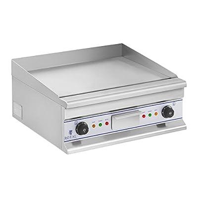 Royal Catering RCG 60S Elektrogrill Tischgrill Doppel Grillplatte Edelstahl (Glatte Grillfläche, 2 x 3.750 W, 400 V, 50–300 °C)