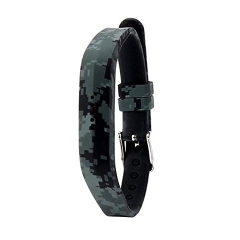 Für Fitbit Flex 2 Smart Watch Transer® Ersatz Uhrenarmbänder Fashion Silikon Uhrenarmband Armband für Uhren Länge: 230mm (N)