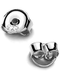 5 Paar Pousetten 4,5mm für Ohrstecker 925 Sterling Silber gestempelt und nickelfrei