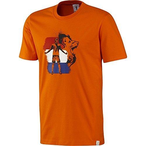 adidas Fifa Mondo Coppa Brasile Da uomo Olanda T-Shirt - Arancione - G77800 - Arancione, XL