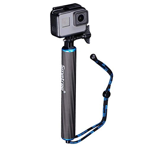 Smatree SmaPole F1 Waterproof Floating Carbon Fiber Hand Grip for GoPro Fusion, GoPro Hero 8/7/6/5/4/3/2/1/OSMO Action (Blue)