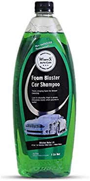 Wavex® Foam Wash Car Shampoo Concentrate 1Ltr pH Neutral, Extreme Suds Snow White Foam, Highly Effective on Du