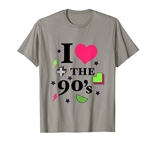 Kostüm Techno Pop - I love the 90er's T-Shirt Retro 90er Jahre Kostüm Party