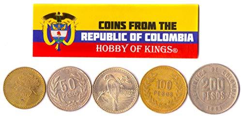 Hobby of Kings - Verschiedene Münzen - alte, sammelbare kolumbianische Devisen zum Sammeln