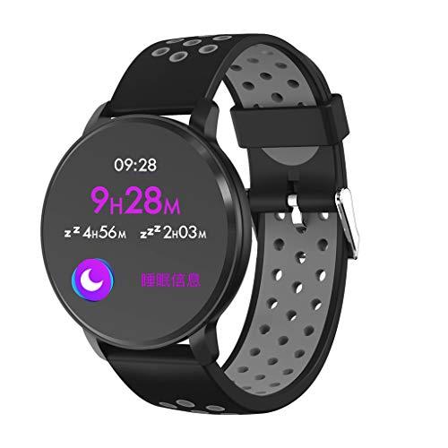 Blutdruck Air (DingLong Air Silikonarmband Sportuhr Smartwatch,für Android iOS Fitness Tracker Aktivitäts Uhr Armbanduhr mit Pulsmesser Schlafmonitor (01))