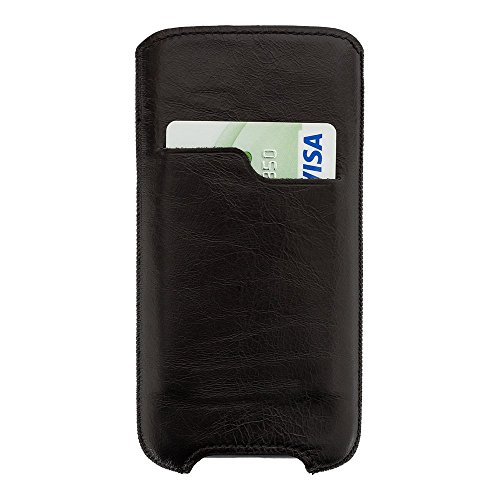 Solo Pelle kompatibel für das iPhone XS Max / 6 Plus / 7 Plus / 8 Plus Case Lederhülle Ledertasche Leon 5,5 Zoll aus echtem Leder als edles Zubehör für das Original Apple iPhone 8 Plus (Iphone 6 Wallet Schieben)