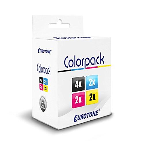 Preisvergleich Produktbild 10x Eurotone Patronen für Epson WF2760 WF2520 WF2650 WF2660 WF2530 WF2510 WF2540 WF2630 WF2750 WF2010 ersetzt T1636 16XL CMYK