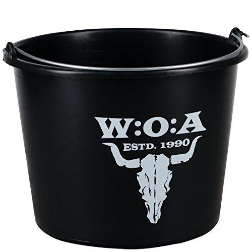 W:O:A – Wacken Open Air 12 Liter Eimer mit Wacken-Logo, mit Henkel aus Metall, Höhe ca. 24,5 cm, Durchmesser ca. 31 cm