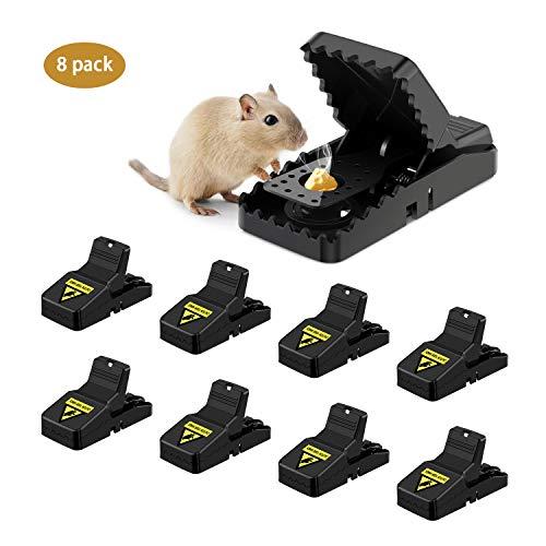 Awroutdoor Profi Mausefalle 8er Set Schlagfalle Mäusefalle Wiederverwendbar Effektive Ökologisch und wiederverwendbar in Haus und Garten