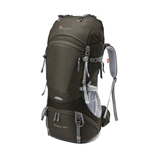 HWLXBB Borsa per alpinismo all'aperto Uomini e donne 65L Borsa per alpinismo multifunzione impermeabile Escursioni alpinismo Zaino per il tempo libero all'alpinismo zaino ( Colore : 1* ) 3*