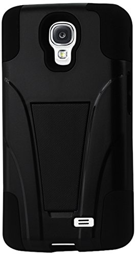Reiko Silicon Hard Hybrid Kickstand Case for LG F70 4G LTE D315 US Carrier TRACFONE,STRAIGHTTALK, NET10 - Retail Packaging - Black