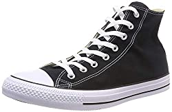Converse Unisex-adult Chuck Taylor All Star Hi-top Trainers, Black (Blackwhite), 3.5 Uk (36 Eu)