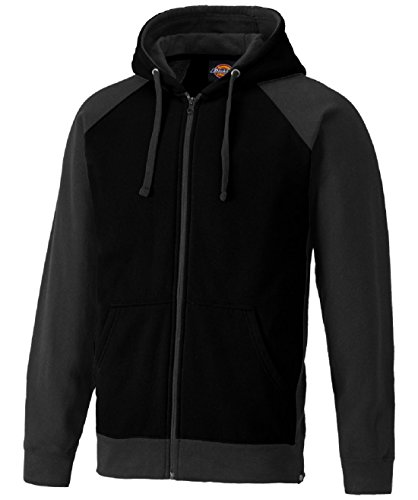 2 Zip-hoody (Dickies Mens Two Tone Polycotton Full Zip Adjustable Hooded Sweatshirt)