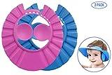 Bllomsem 2PCS Baby Shower Caps hats, Cuffia per il bagnetto Kid Bath Cappello regolabile cuffia da bagn per bambini Baby Protect Caps per neonati e Children (blu/rosa)