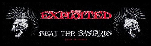 Preisvergleich Produktbild THE EXPLOITED Superstrip Aufnäher BEAT THE BASTARDS Patch gewebt 20,5 x 5,5 cm
