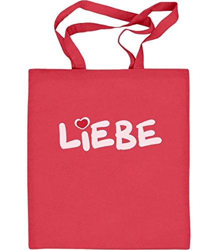 Love - Valentines Day Idea Regalo Romantico Borsa In Juta Borsa Di Cotone Rossa