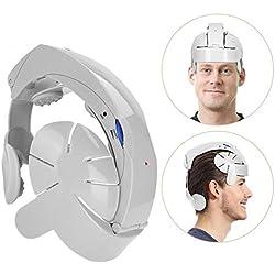masseur de tête électrique, Vibration pneumatique avec Sensation de pression, avec doigts Massage de relaxation et musique relaxant (USB Interface)