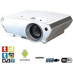 Proyector con Android, TDT, SV350 USB, HDMI, VGA, AC3, FULLHD soportado, 2 años de garantía
