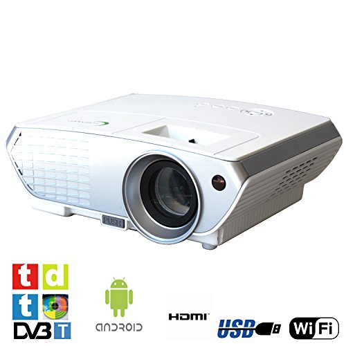 Luximagen SV350 (Blanco), Proyector con WiFi, Android, TV TDT, USB, HDMI, VGA, AC3