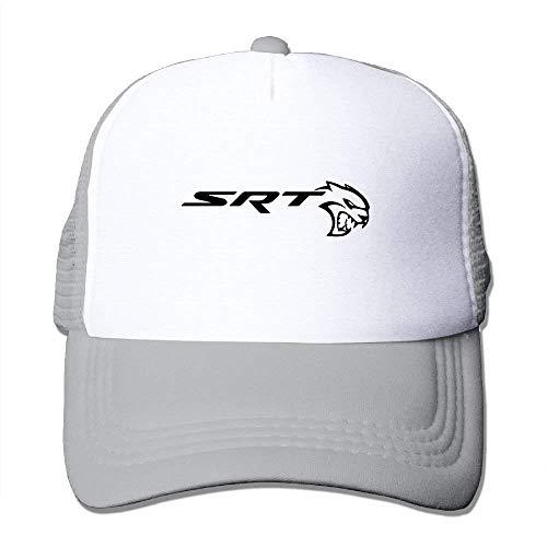 SRT-Dodge Challenger Logo Adult Grid Baseball Caps Unisex Sunshade Hat Mesh Hat Snapback Cap JH3923