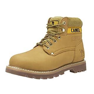 CAMEL CROWN Combat Boots Damen Winterschuhe Stiefeletten Winterstiefel Kurzschaft Stiefel Flache Schuhe Rutschfeste Schnürschuhe Worker Boots