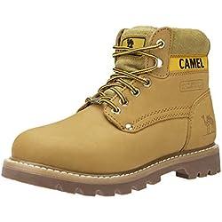 CAMEL CROWN Botas Cortas para Mujer Botines de Invierno Cálidas para el Tobillo Botas de Trabajo de Cuero Suave Zapatos