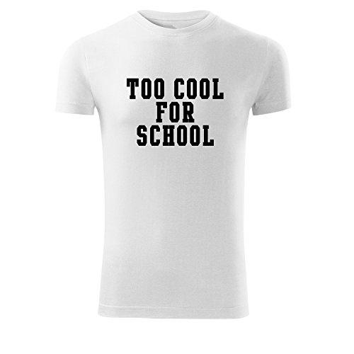 Le Creuset Cool Tool (Modisches Herren Shirt Motiv too cool for school bedruckt Tank Top Freizeit Outdoor mit Aufdruck (366-Replay-Weiß-S))