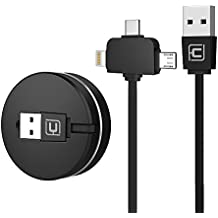 CAFELE Retractable Cable,2&1 (3 in 1 Negro)