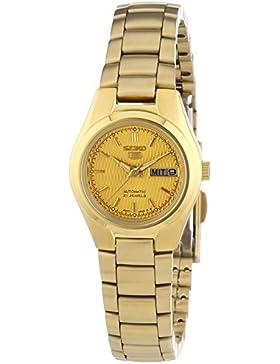 Seiko Damen-Armbanduhr XS Seiko 5 Analog Automatik Edelstahl beschichtet SYMC18K1