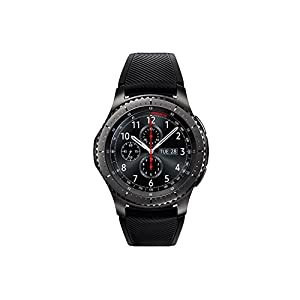 "Samsung Gear S3 Frontier - Smartwatch Tizen (pantalla 1.3"" Super AMOLED 360x360, GPS integrado, batería 380 mAh, altavoz integrado), color Gris (Space Gray)- Version española 10"