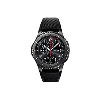 Samsung Gear S3 Frontier – Smartwatch Tizen (pantalla 1.3″ Super AMOLED 360×360, GPS integrado, batería 380 mAh, altavoz integrado), color Gris (Space Gray)- Version española