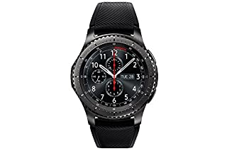 "Samsung Gear S3 Frontier - Smartwatch Tizen (pantalla 1.3"" Super AMOLED 360x360, GPS integrado, batería 380 mAh, altavoz integrado), color Gris (Space Gray)- Version española (B01MDK6MND) 