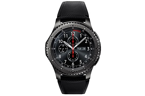 Samsung S3 Frontier - Smartwatch Tizen (pantalla 1.3' Super AMOLED 360x360, GPS integrado, batería 380 mAh, altavoz integrado), color Gris (Space Gray)- Version española
