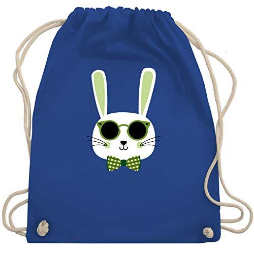 Tiermotive Kind - Osterhase Sonnenbrille Grün - Unisize - Royalblau - WM110 - Turnbeutel & Gym Bag