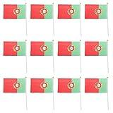 12x Frankreich EM 2016 Fahne Hand Wehende Flaggen 21cm X 14cm - Portugal