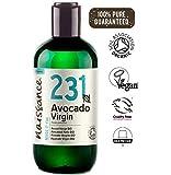 Naissance Huile Végétale d'Avocat Vierge Certifiée BIO (n° 231) - 250ml - 100% pure et naturelle