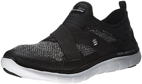 Skechers - Zapatillas de running para hombre negro negro, color negro, talla 38,5 EU