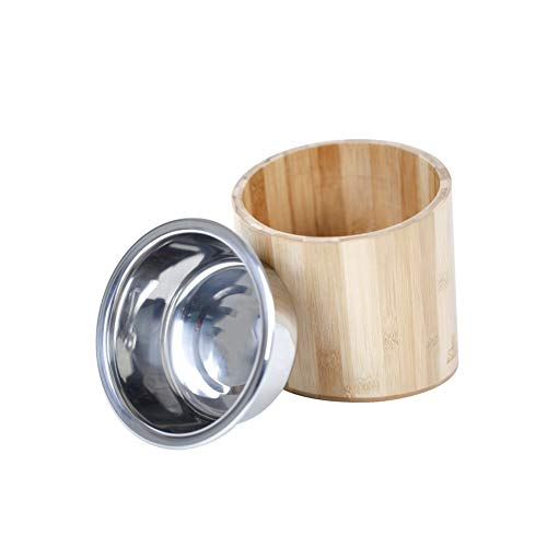 CRMY Bambus Tilt Bowl, Pet Bowl Hundenapf Cat Bowl Dog Cat Cat Food Heimtierbedarf -