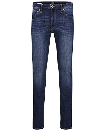 Jack & Jones Herren Skinny Jeans Slim Fit Denim Vintage (29W / 34L, Blue Denim) (Slim-fit-jeans)
