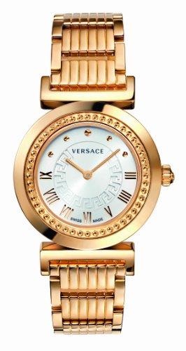 Versace P5Q80D001 S080 - Reloj analógico de cuarzo unisex, correa de oro rosa color oro rosa