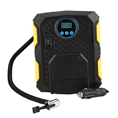 Kit pompa di gonfiaggio pneumatici per auto, DC 12V Pompa di gonfiaggio pneumatici per auto digitale portatile 150PSI con adattatori per ugelli per auto