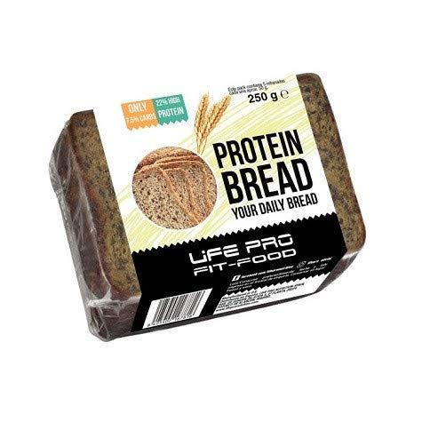 Pan de molde con semillas bajo en carbohidratos 250 g Life ProEl Pan de molde con semillas bajo en carbohidratos de Life Pro es un delicioso pan horneado rico en proteína y bajo en hidratos de carbono. Cada porción de 50 gramos contiene 11 gramos de ...