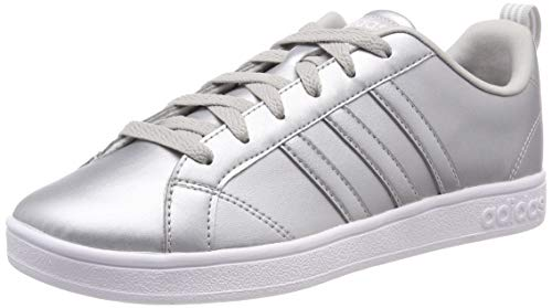 adidas Damen VS Advantage Tennisschuhe, Silber (Matte Silver/Ftwr White/Grey Two F17), 38 EU -