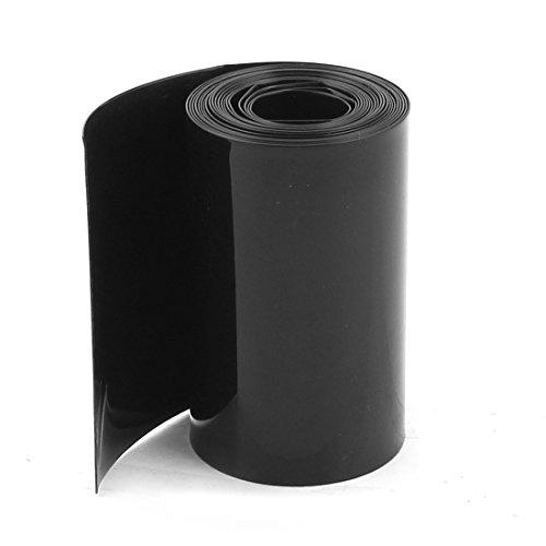 Sourcingmap® 70mm/44mm PVC Hitze Shrink Tubing Wrap schwarz 2m 6,5 ft für 18650 Akkus de (Shrink Fit Schlauch)
