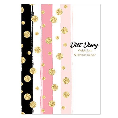 Diät Tagebuch, Gewicht Verlust und Übung Tagebuch, Slimming Diary kompatibel mit Ernährung Pläne inkl. Slimming World, Weight Watchers & Kalorien zählen, New SS, Spots & Stripes (Kalorien Fett-verlust Von)