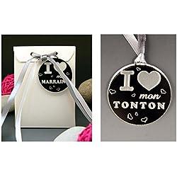 Boite de Chocolat I ♥ mon Tonton - Cadeau Baptême, Noël...