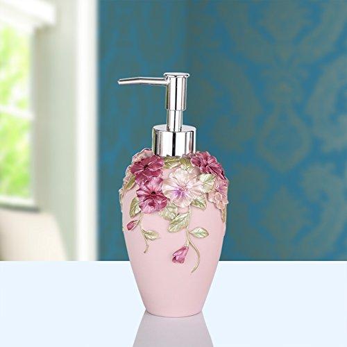 Dusche dispenser,Hand sanitizer flasche,Seifenspender Gel-duschkabine Shampoo box Handseife Dusche gel shampooflasche-rosa (Gel-glas-seifenspender)