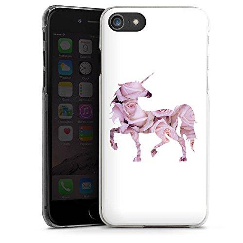 Apple iPhone X Silikon Hülle Case Schutzhülle Einhorn Unicorn Rosen Geschenk Hard Case transparent