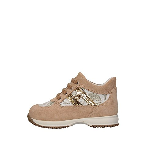 Hogan Junior HXT09204181FT00XTD Sneakers Bambina Beige